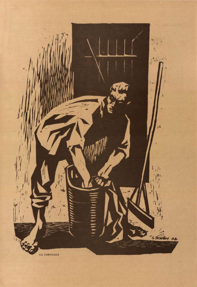 Ilie Schon, Drudgery, 1973, limited propaganda edition, 48x33 cm