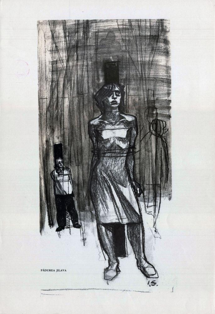 Ilie Schon, Jilava Forest, 1963, limited propaganda edition, 48x33 cm