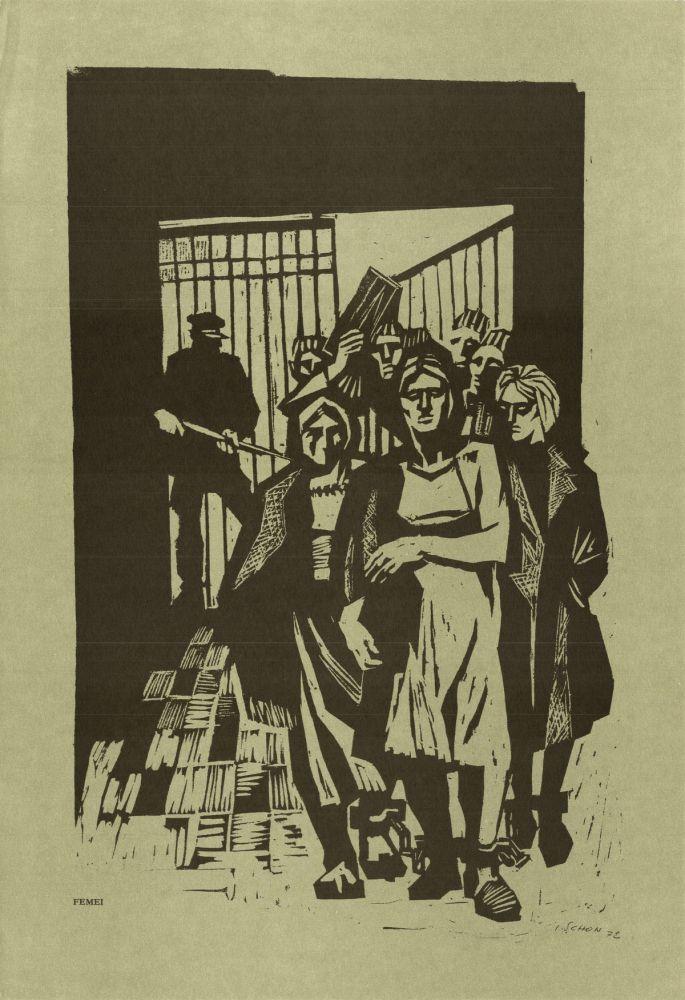 Ilie Schon, Women, 1972, limited propaganda edition, 48x33 cm