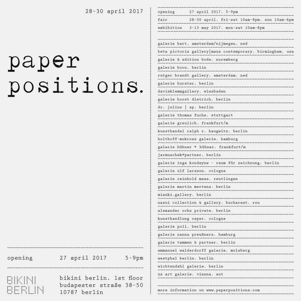 PAPER POSITIONS Berlin