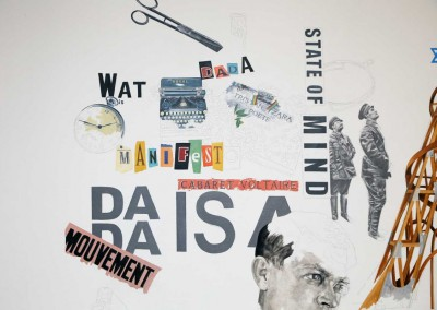 Daniel Brici, Tzara & Lenin Play Chess, 2016, oil and pencil on canvas, 190x160 cm