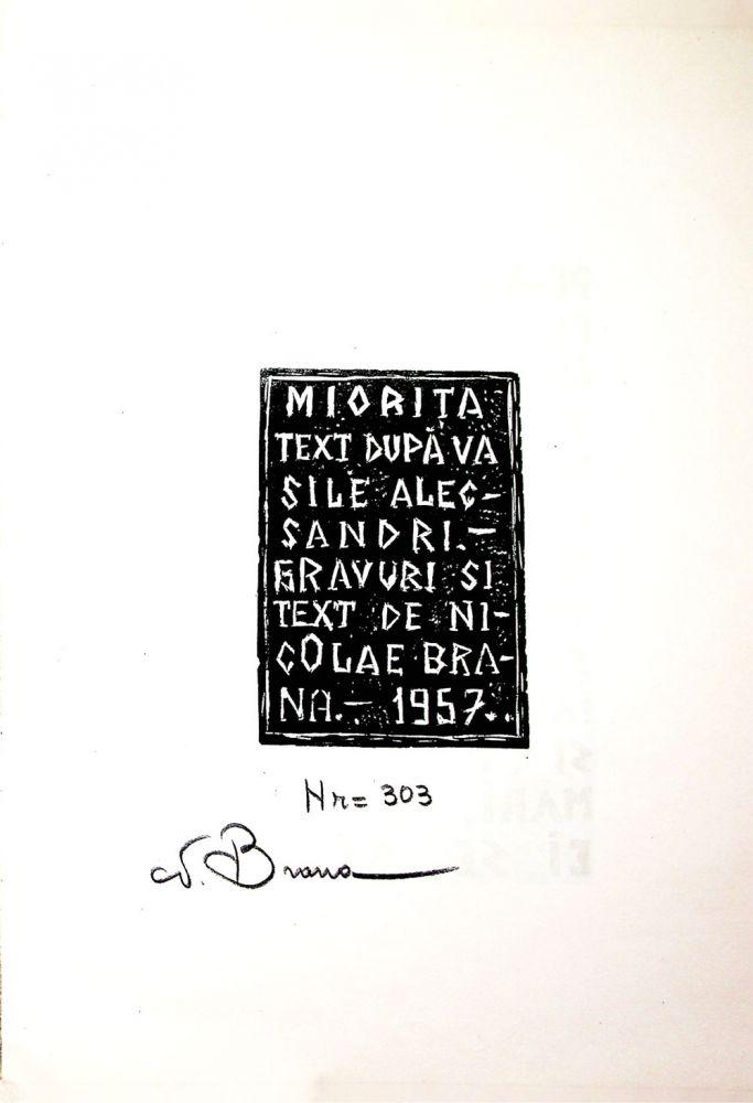 Nicolae Brana, Miorita, cu text dupa Vasile Alescandri, Bucuresti 1957 1