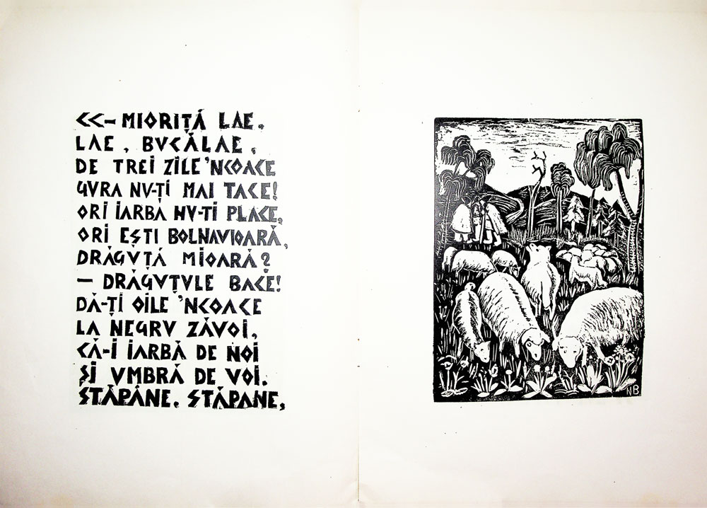 Nicolae Brana, Miorita, cu text dupa Vasile Alescandri, Bucuresti 1957 4