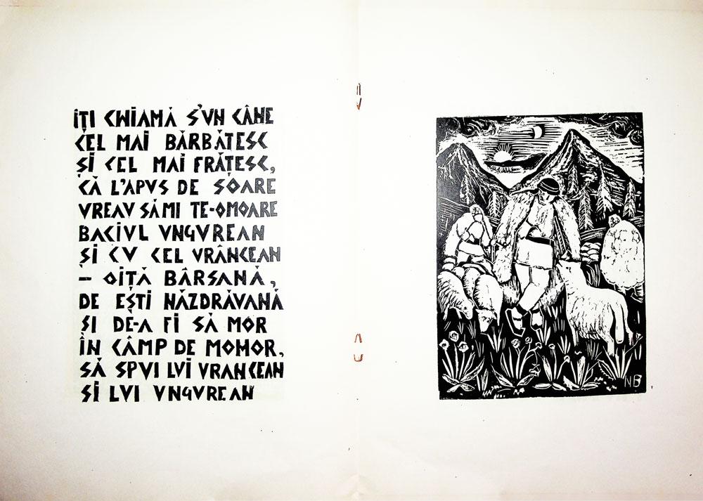 Nicolae Brana, Miorita, cu text dupa Vasile Alescandri, Bucuresti 1957 5