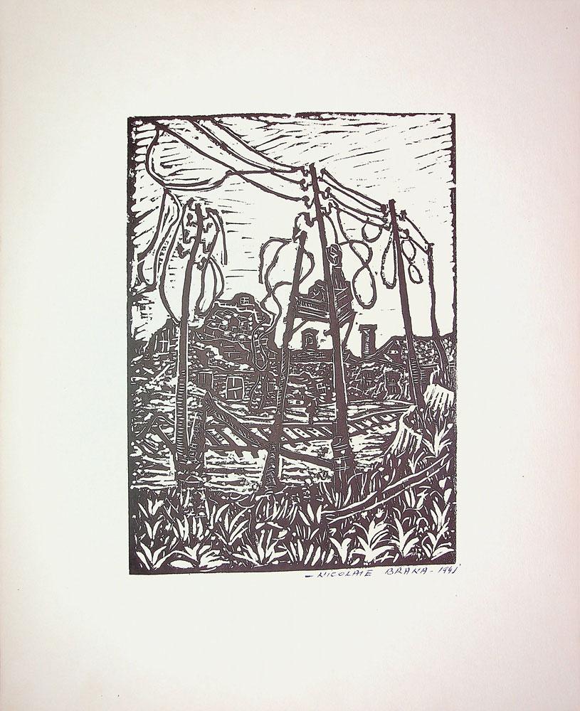 Nicolae Brana, Post de observație, 1941, 32x40 cm