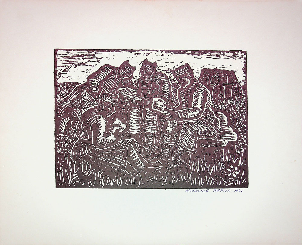 Nicolae Brana, Scrisori de la cei dragi, 1941, 32x40 cm