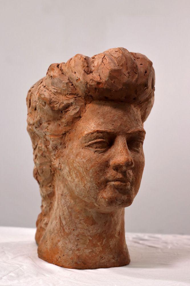 Constantin Iordache, Ana Aslan, 1974, ceramica, 27x22x18 cm