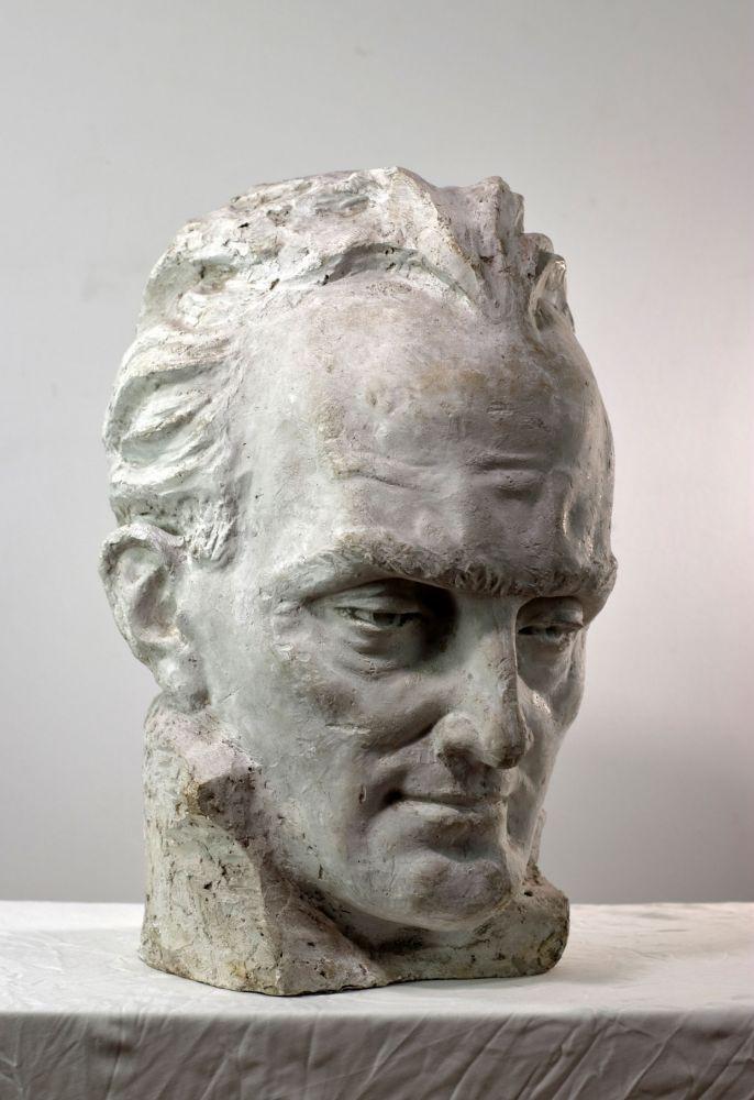 Constantin Iordache, Compozitorul Gheorghe Dumitrescu, 1971, 45x38x30 cm, (1)