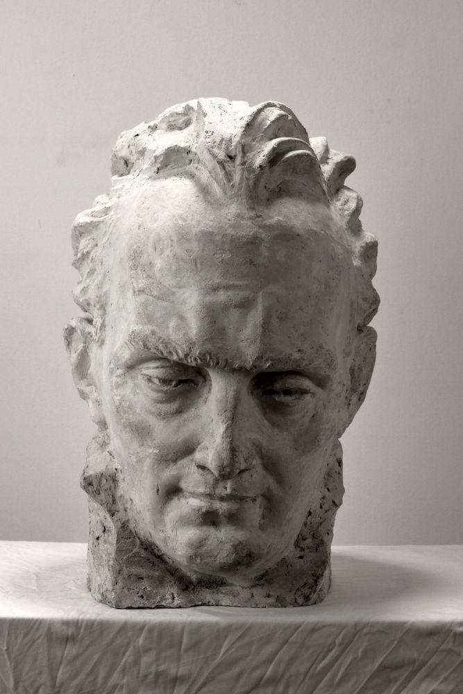 Constantin Iordache, Compozitorul Gheorghe Dumitrescu, 1971, 45x38x30 cm, (2)