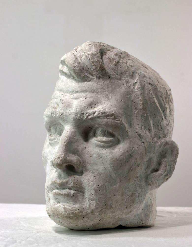 Constantin Iordache, Studiu pentru cap de boxer, 1971, 24x22x20 cm