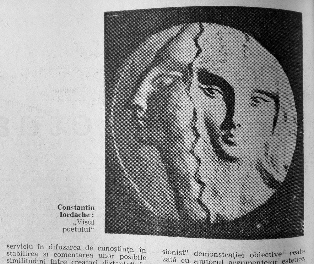 Constantin Iordache, Visul poetului, Romania Libera, nr 4, joi 20 ianuarie, 1972