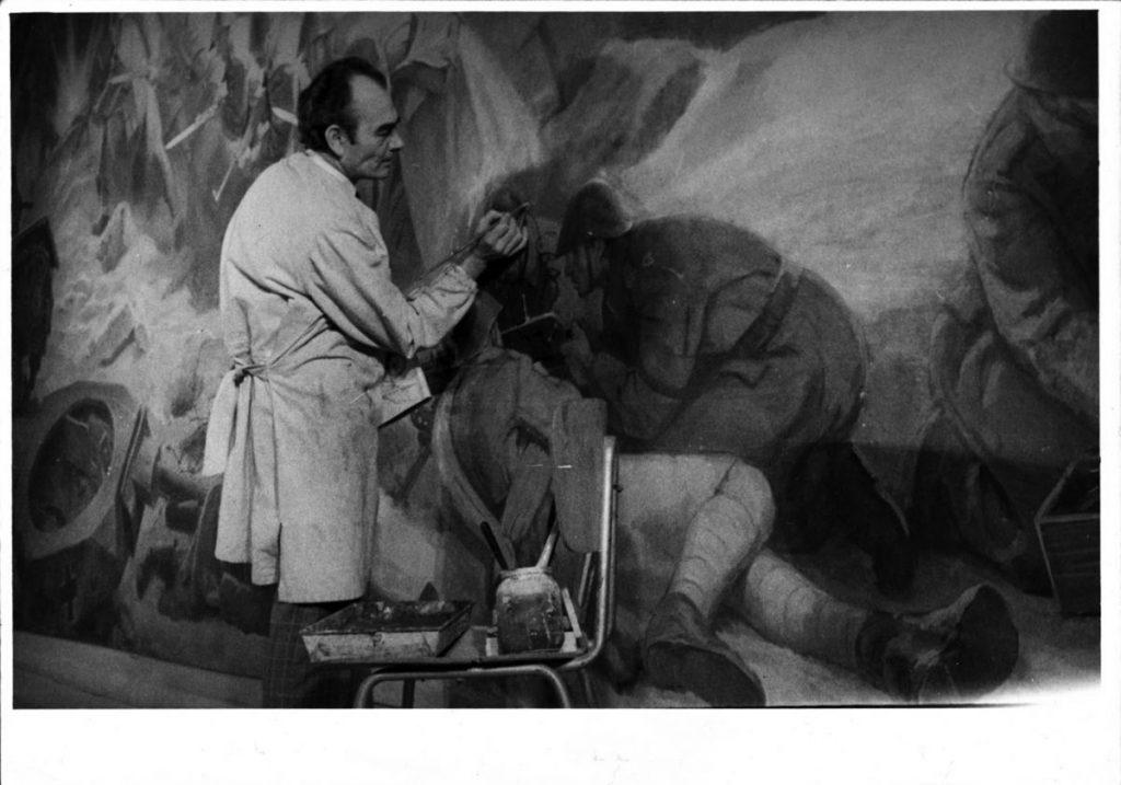 Paul Atanasiu, Fresca Participarea armatei romane in razboiul antihitlerist Muzeul Militar Central 7,30 x 3,50 m, arhiva Alexandru Cebuc