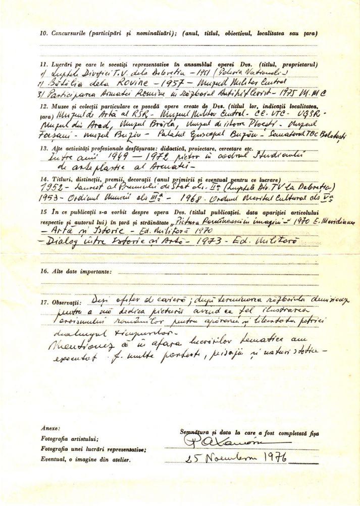 Paul Atanasiu fisa biografica 2, arhiva Alexandru Cebuc