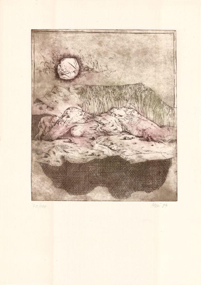 Nicolae Alexi, Peste virfuri, 70from100, 1989, 51x37 cm