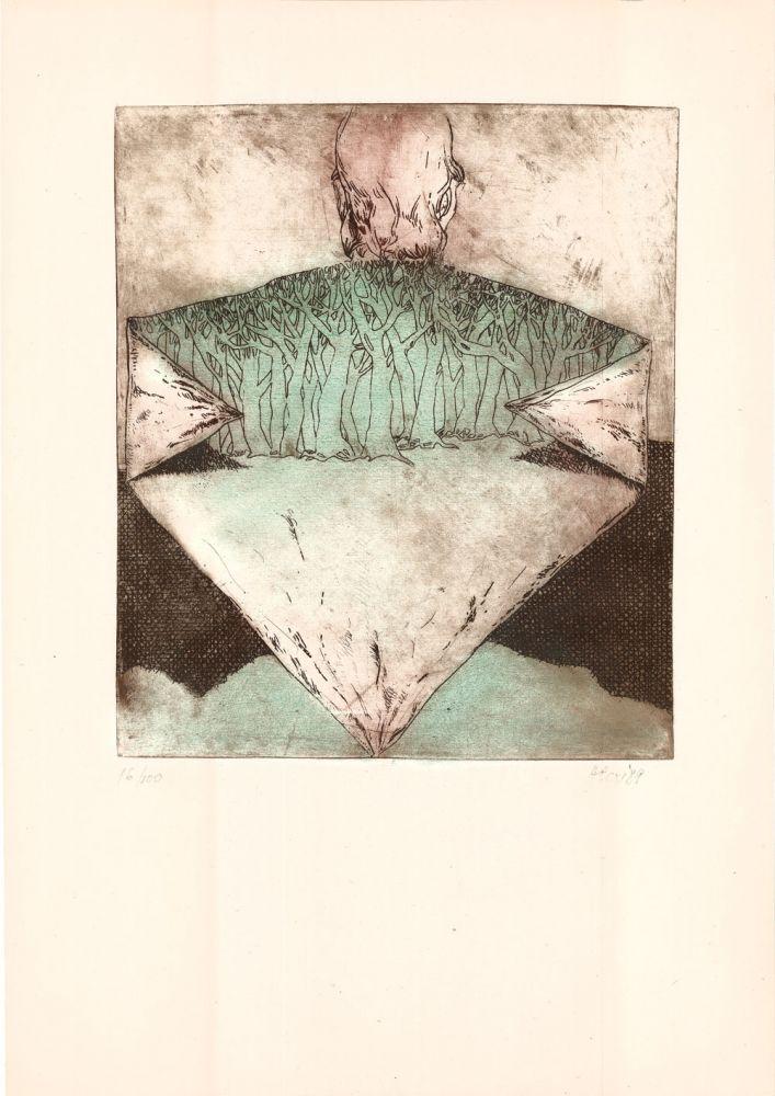 Nicolae Alexi, Si daca… 16from100, 1989, 51x37 cm