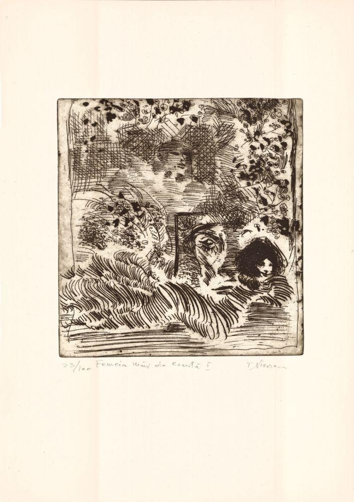 Tiberiu Nicorescu, Femeia mar de cearta I, 23from100, 51x37 cm