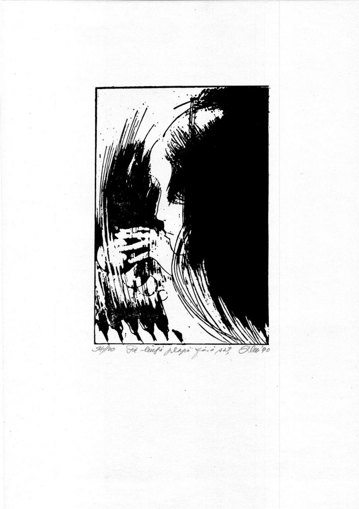 Vasile Socoliuc Pe langa plopii fara sot, 94from100, 1990, 51x37 cm