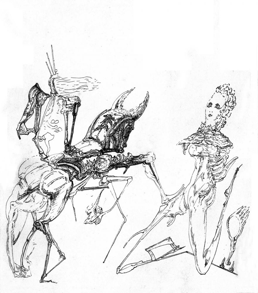 Dan Stanciu, Unititled, 1976, ink on paper, 31x27 cm