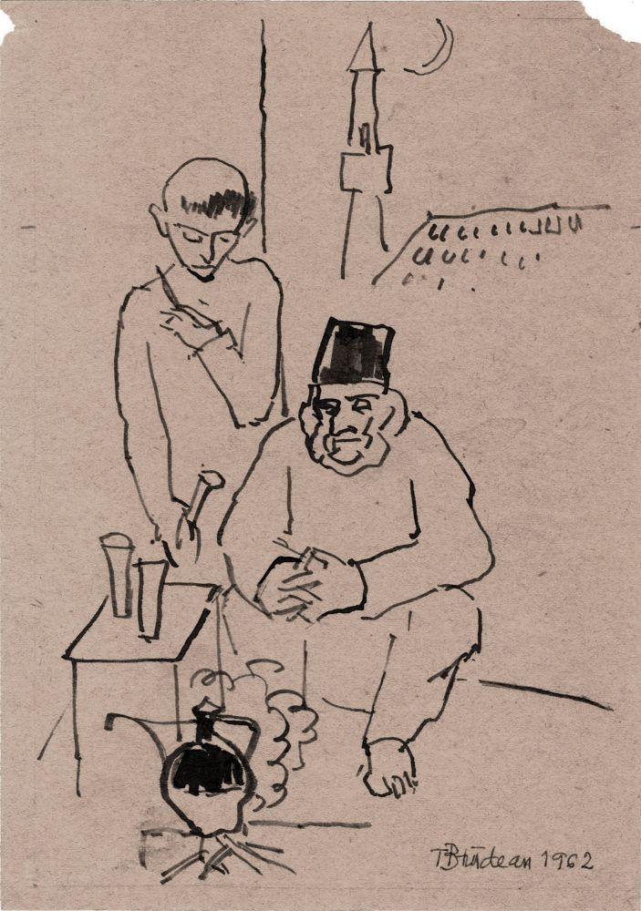 Traian Bradean,1962, tus pe hartie, 21,5x14,5