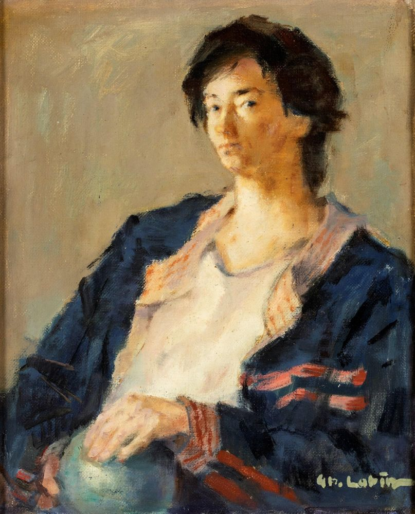 Gheorghe Labin, Portrait, oil on canvas, 43x35 cm