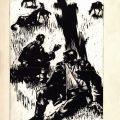 Gheorghe Labin, ilustratii pentru Viscolul de Alexandru Șahighian, 1962, tus pe carton, 30x22 cm 1