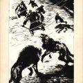 Gheorghe Labin, ilustratii pentru Viscolul de Alexandru Șahighian, 1962, tus pe carton, 30x22 cm