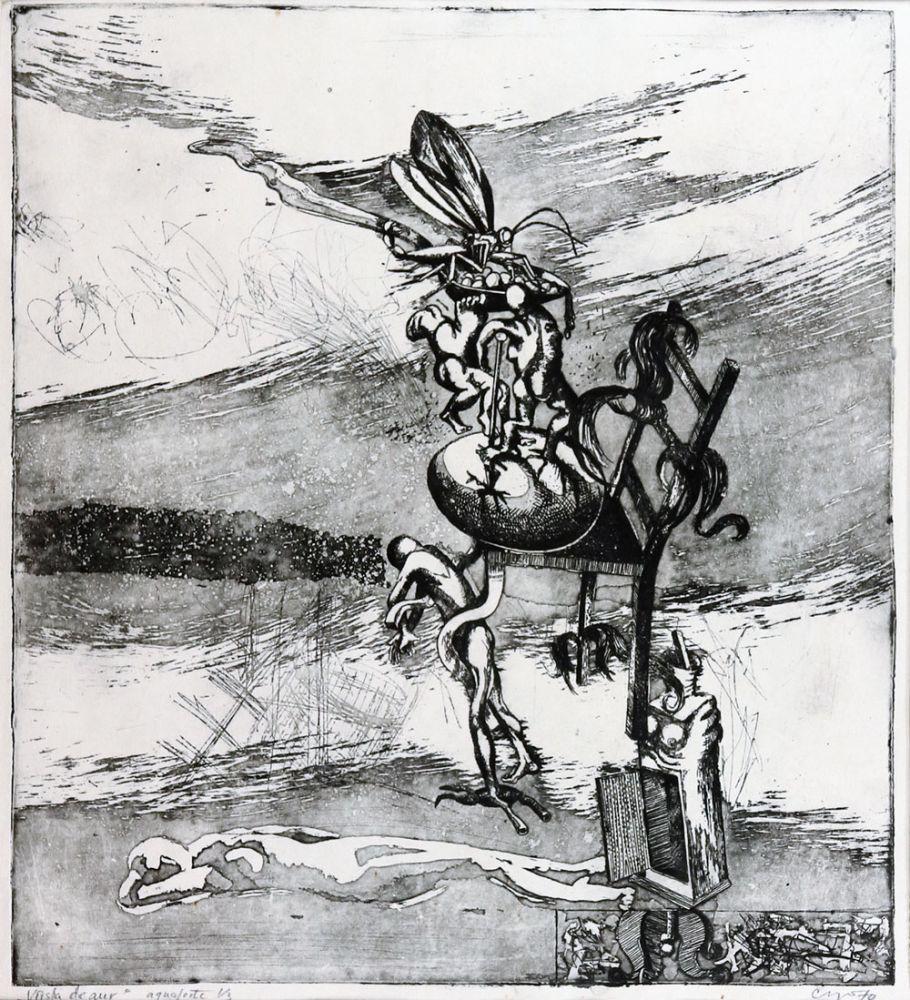 Florin Creangă, Vârsta de aur, aqvaforte 13, 1970, 45x40 cm