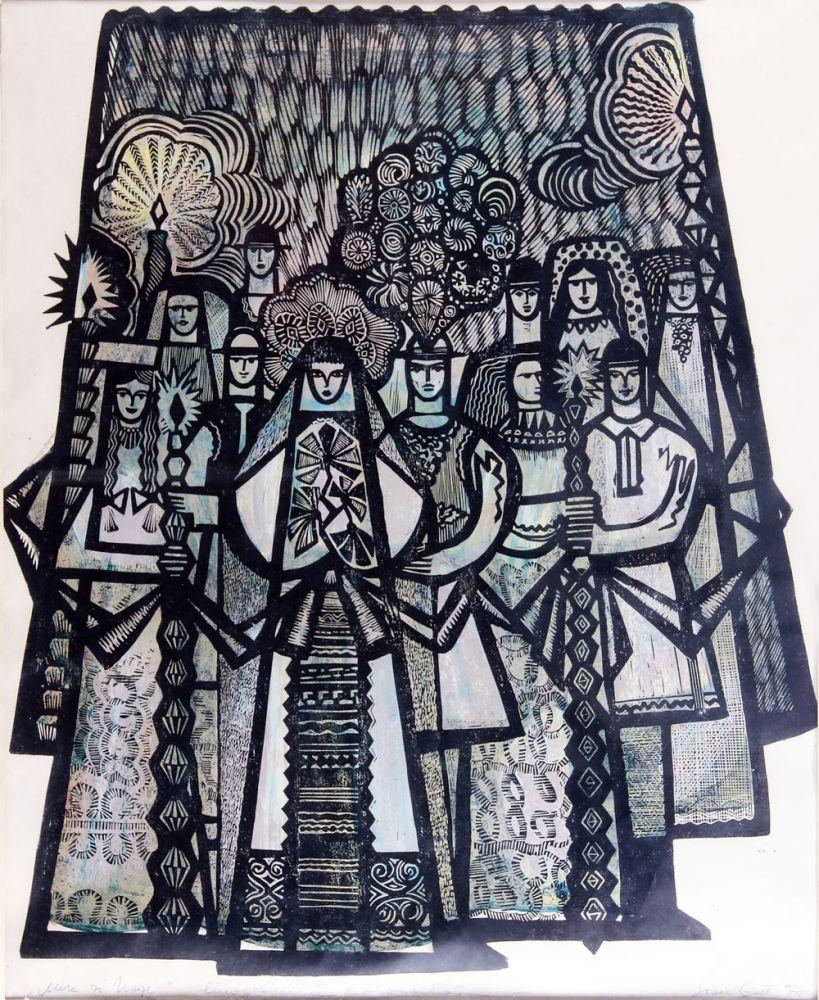 Ion Cott, Miri si nasi, 1970, 82x61cm