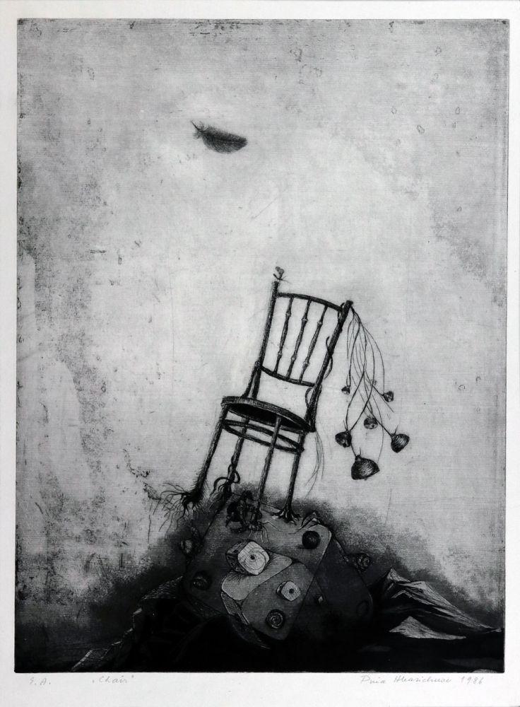 Puia Hortensia Masichievici, Chair, E.A. 1986, 59x50 cm