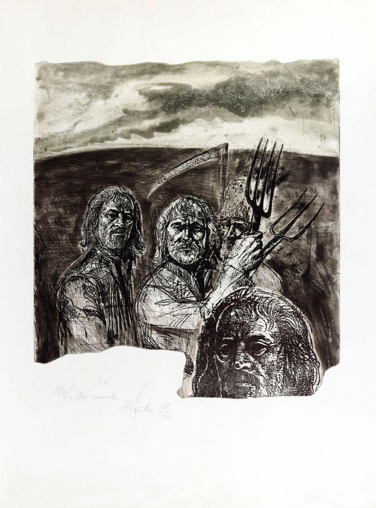 Vasile Pintea, 1907 Ard conacele, 1977, EA, 76x56 cm