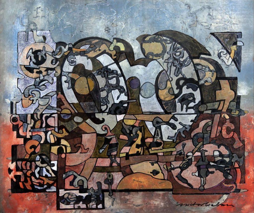 Victor Ciobanu, Fara titlu, tehnica mixta, 48x56 cm