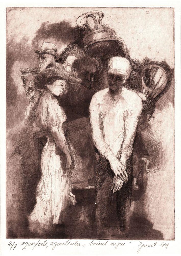 Nestor Ignat, Scrinul negru, 1979,  aqvaforte, aqvaninta, ex 2 din 7, 30x21 cm