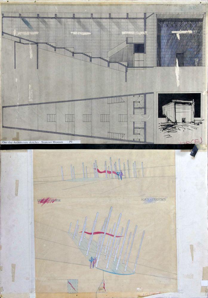 Vasile Celmare, Brancusi Museum, One day architecture, 98x70 cm