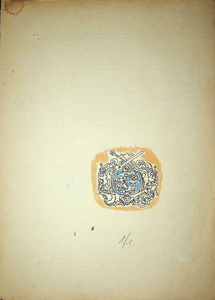 Vasile Celmare, Mos Ion Roata si Unirea, desen pe carton, 1968, pg 12, 35x25 cm