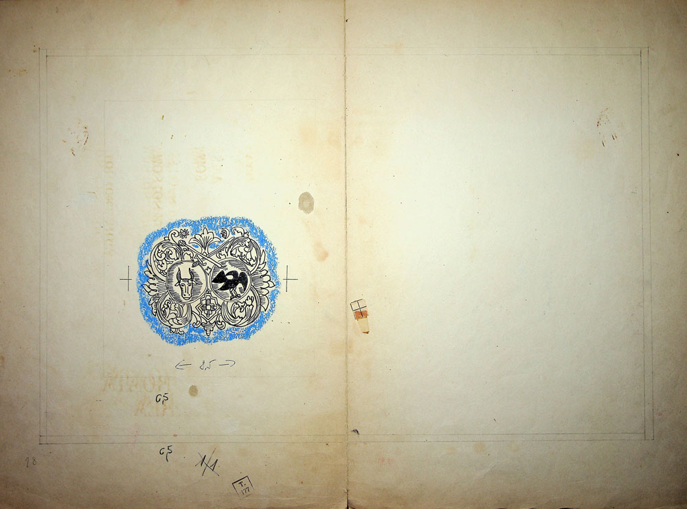 Vasile Celmare, Mos Ion Roata si Unirea, desen pe carton, 1968, pg 18-19, 35x25 cm