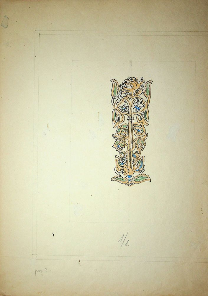 Vasile Celmare, Mos Ion Roata si Unirea, desen pe carton, 1968, pg 2, 35x25 cm