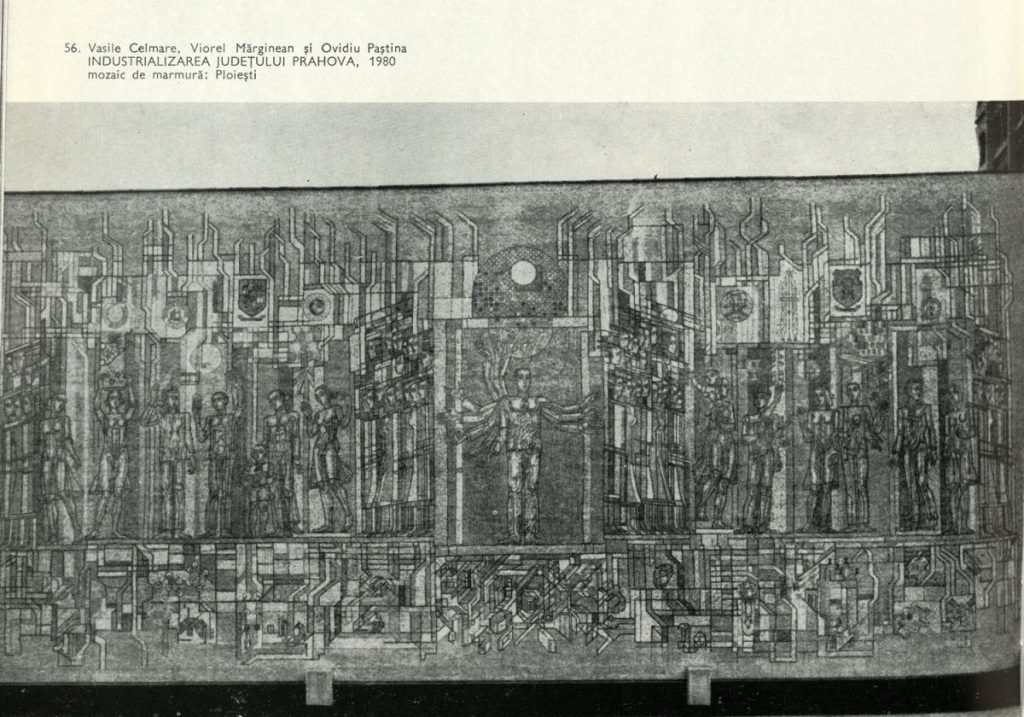 Vasile Celmare, Viorel Marginan, Ovidiu Pastina, industrializarea județului Prahova, 1980 in Mircea-Grozdea Arta monumentala contemporana 1987