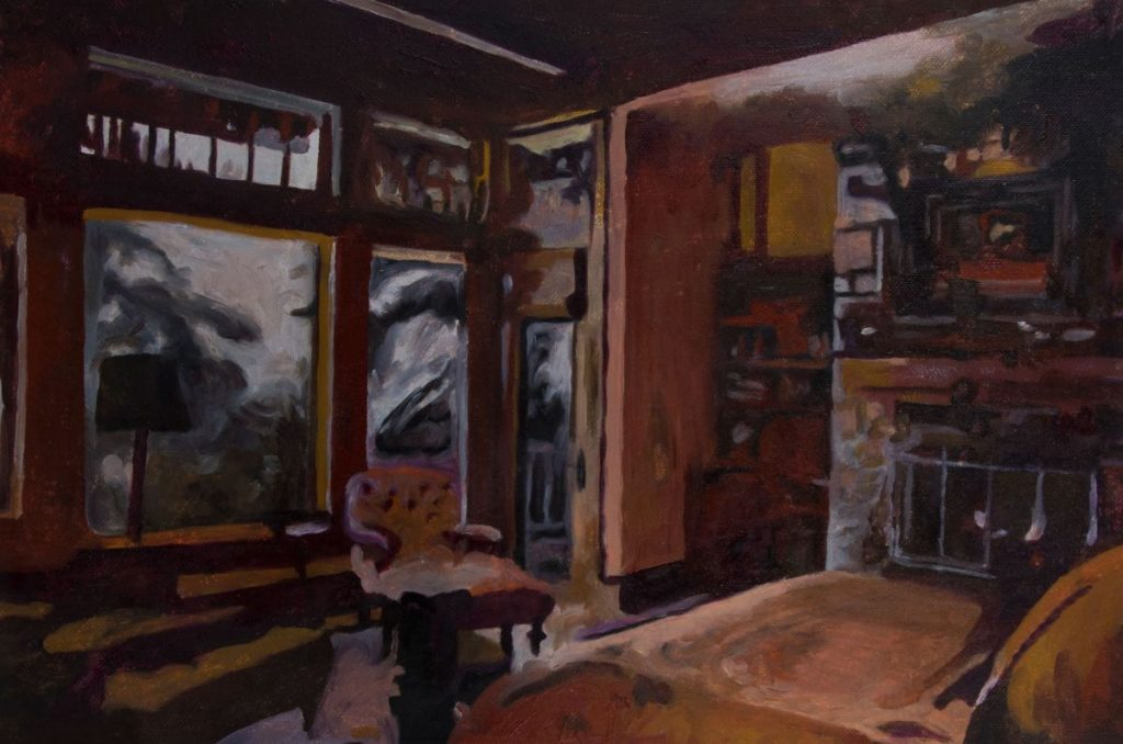 Mihaela Mihalache, Empire interior, 39x27 cm, oil on canvas, 2019