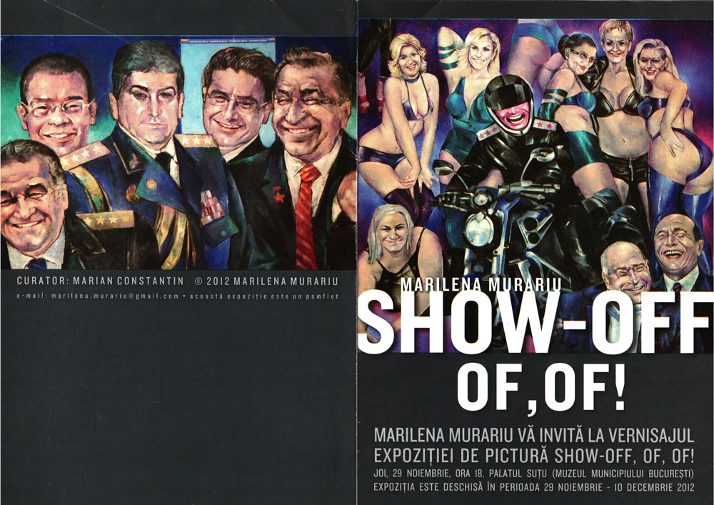 Catalog Marilena Murariu, Show-Off Of, Of!, 2012, Palatul Sutu