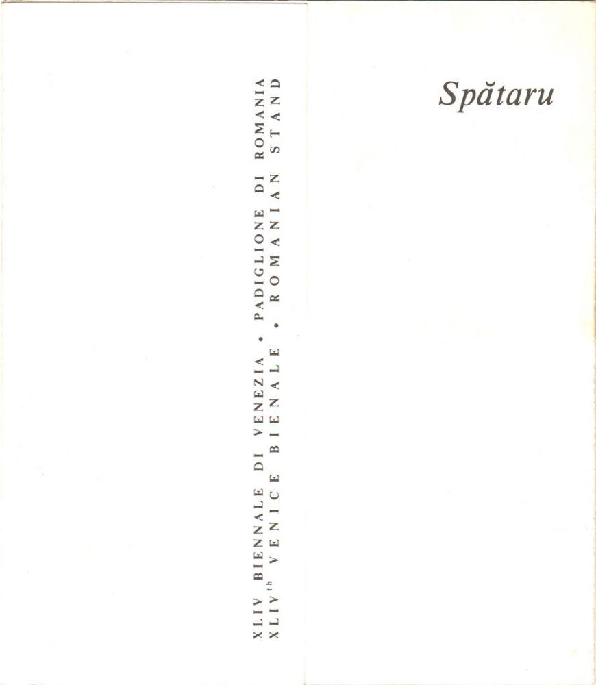 Spătaru. La Bienale di Venezia, 1990