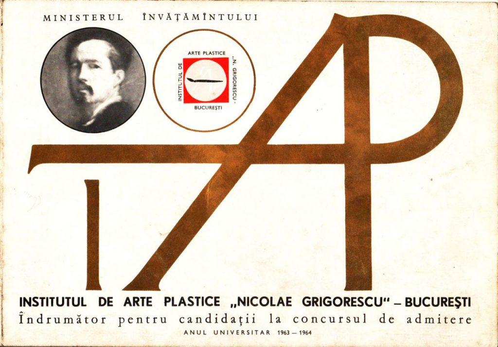 Institutul de Arta Plastice Nicolae Grigorescu, Bucuresti, Indrumator pentru candidatii la concursul de admitere 1963-1964