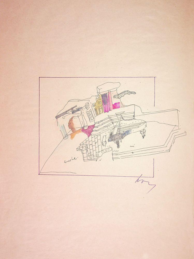 Paul Bortnovschi, desene de scenografie, 62x37 cm