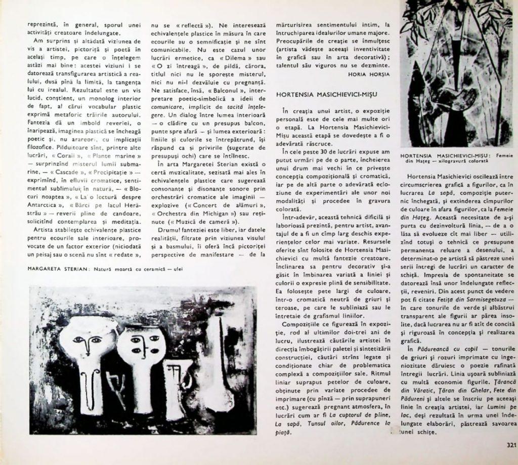 Hortesia Masichievici Mișu, Arta nr 6, 1965