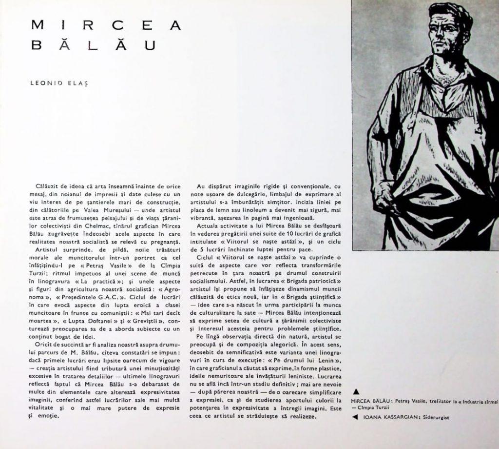 Mircea Balau Arta nr 6, 1963