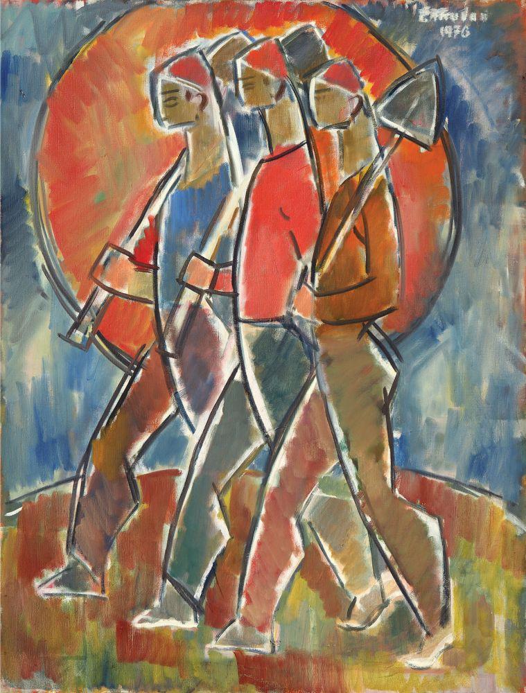 Petre Abrudan, La Muncă, 1976, ulei pe pânză, 91,5x70 cm, p 71