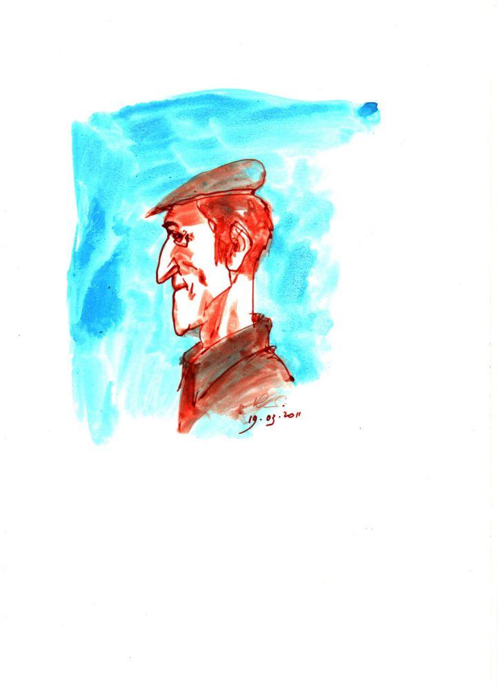 Vasile Olac, Portret PM, 19 martie 2011, 29x21 cm