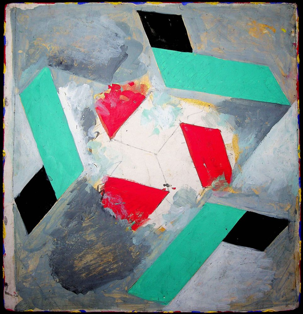 Vasile Pop Negresteanu, 07 09 2020, pictura tehnică mixtă pe carton, 29x28 cm