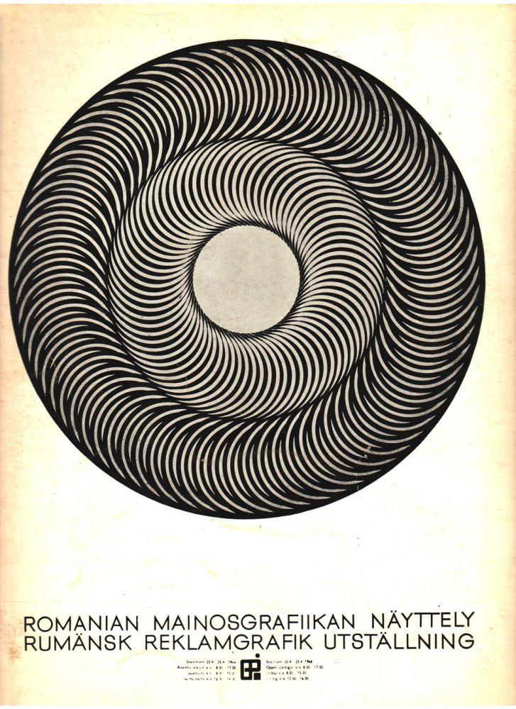Napoleon Zamfir, Afisul expozitiei de grafica publicitara romaneasca Helsinki, 1968, Arta nr 7, 1968