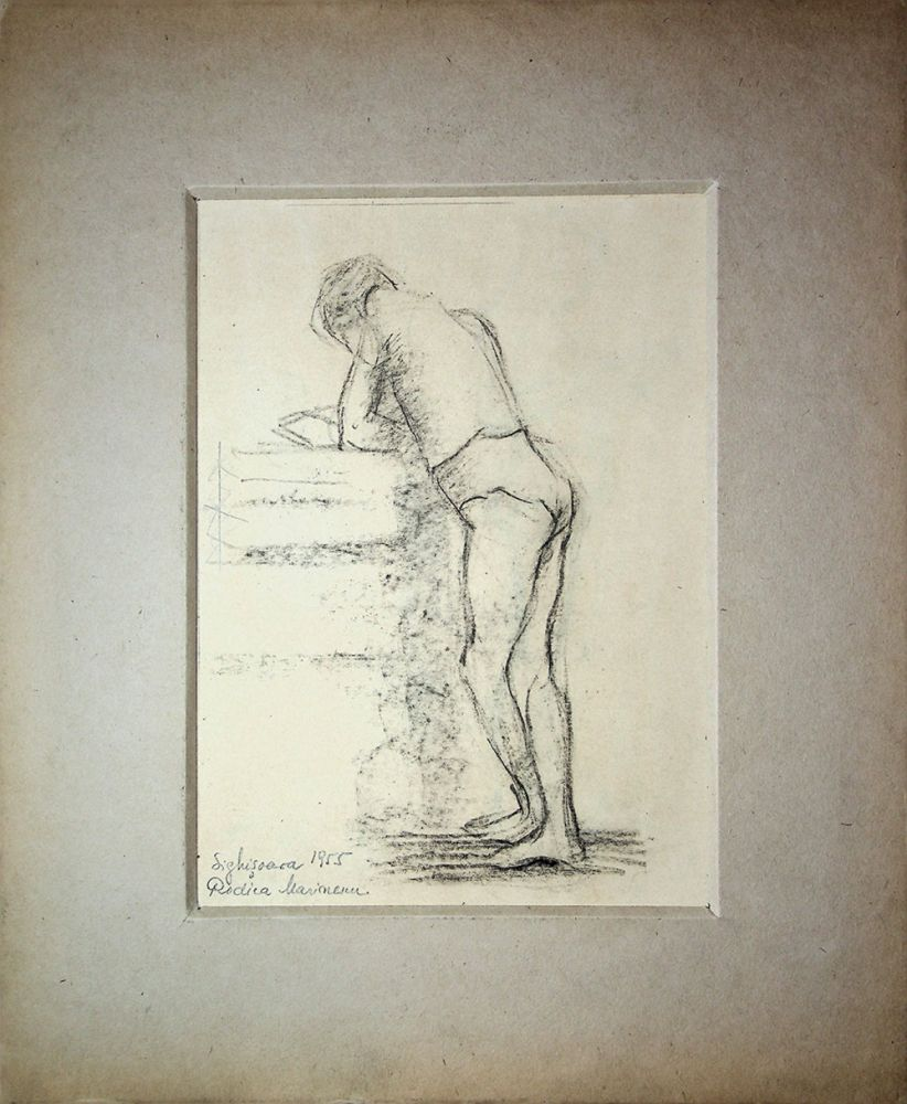 Rodica Anca Marinescu, Sighisoara, desen, 1955, 16x23 cm