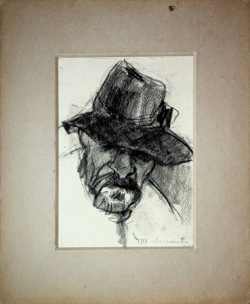 Rodica Anca Marinescu, Taran, desen, 1955, 15x21 cm